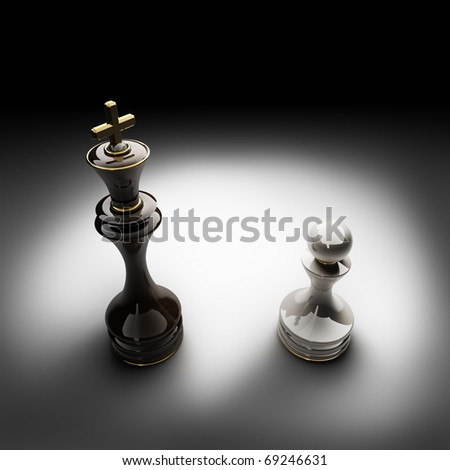 Chess concept image  3D render - stock photo
