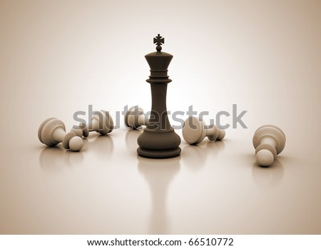 Chess concept image - Success - stock photo