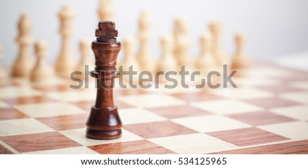 chess concept on the grey background
