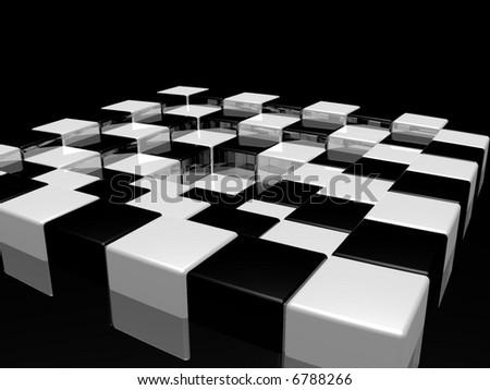 chess desk - stock photo