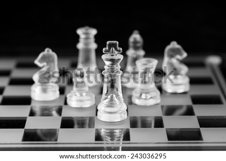 Chess figure, business concept strategy, leadership, team  - stock photo