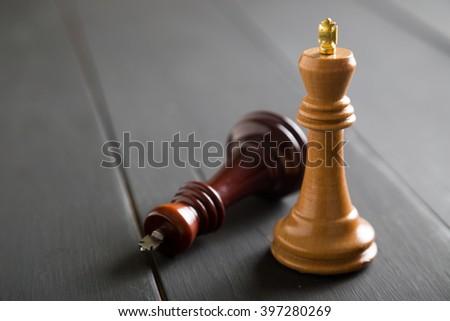 Chess figures - stock photo