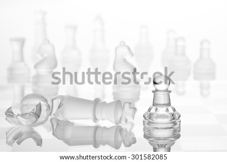 chess figures - strategy and business concept - stock photo
