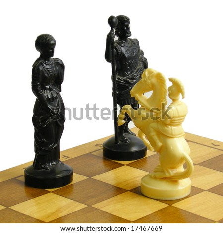 chess fork - stock photo