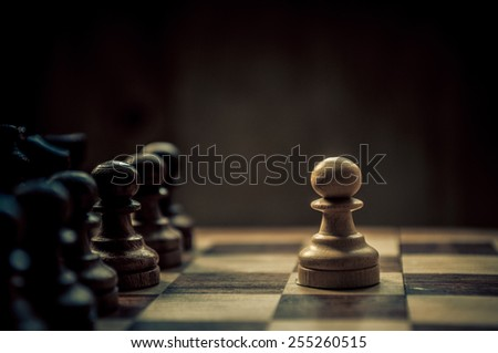 chess game - stock photo