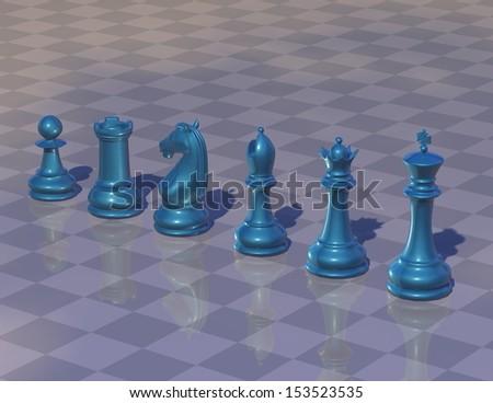Chess game backround - stock photo