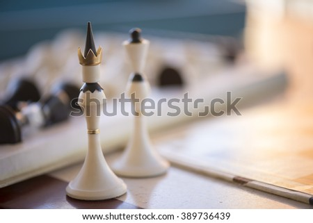 chess, game, board, sport, strategy, king, pawn, play, knight - stock photo