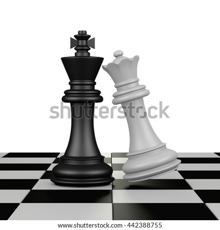 chess game 3D rendering