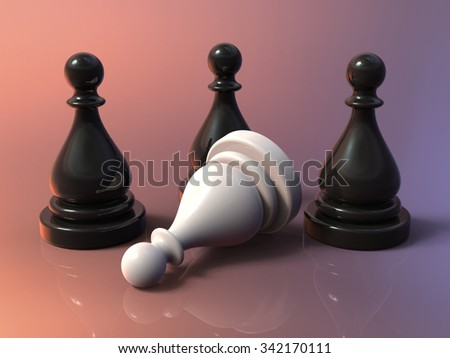 Chess Game Pieces Closeup