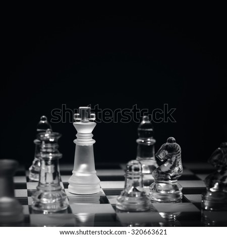 Chess game with checkmate concept for winning, business strategy, competition and success - stock photo