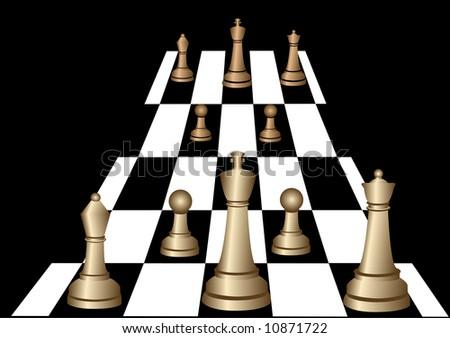 Chess illustration 2 - stock photo