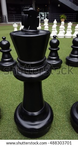 chess in grass