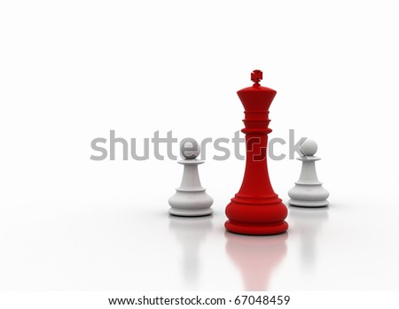 Chess king illustration - stock photo