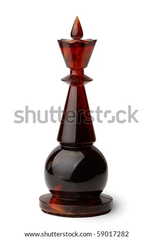 Chess king isolated on white background, clipping path included. - stock photo