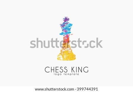 Chess king logo. Chess logo. King logo. Creative logo. - stock photo