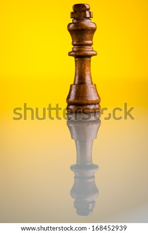 chess king on a background