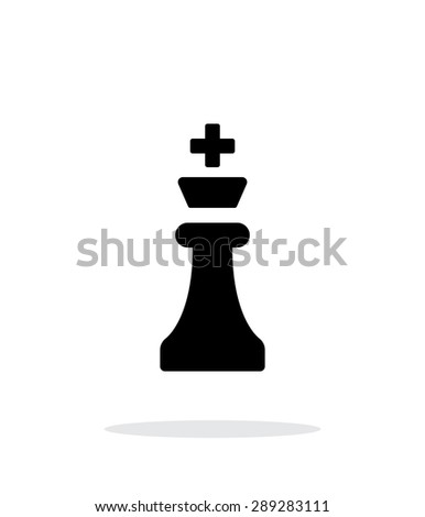 Chess King simple icon on white background. - stock photo