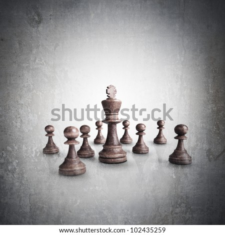 Chess king standing grunge high resolution - stock photo