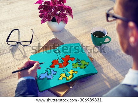 Chess Minded Game Tactics Leadership Strategy Concept - stock photo