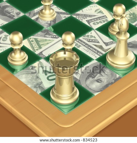 Chess Money Concept 3D