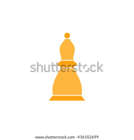 Chess officer. Color simple flat icon on white background - stock photo