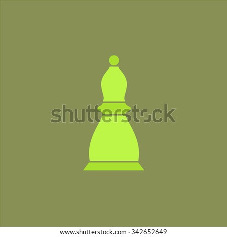 Chess officer. Colorful retro flat icon - stock photo