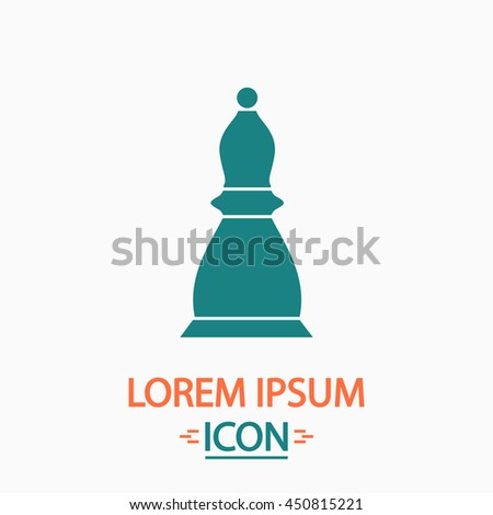 Chess officer. Flat icon on white background. Simple illustration - stock photo