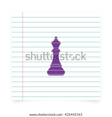 Chess officer icon. - stock photo