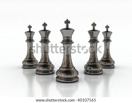 chess on a white background - stock photo