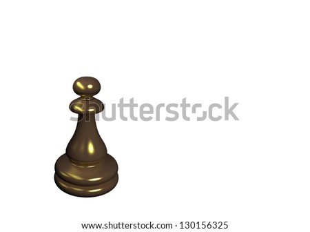 Chess Pawn - stock photo