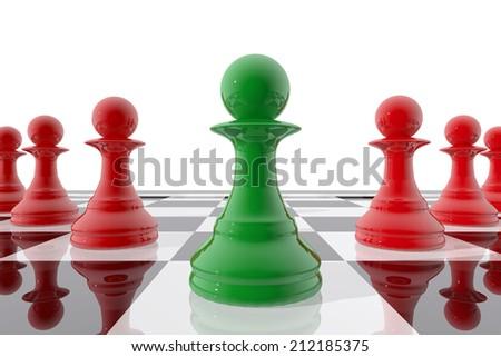 Chess pawn winner - stock photo