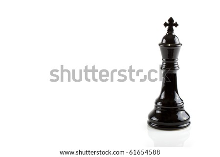 Chess piece isolated on a white background