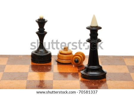 chess piece isolated on white background