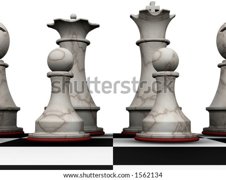 Chess pieces - 3D render