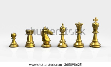 Chess Pieces - Gold