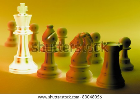 Chess Pieces in Warm Tone