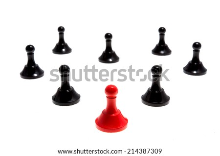 Chess pieces isolated on white background - stock photo