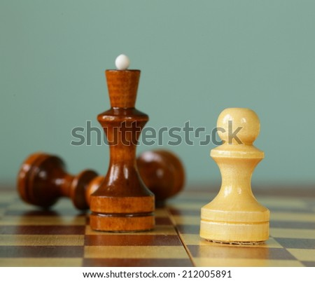 chess position - pawn standing in a position of checkmate