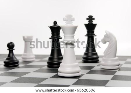 chess problem - stock photo