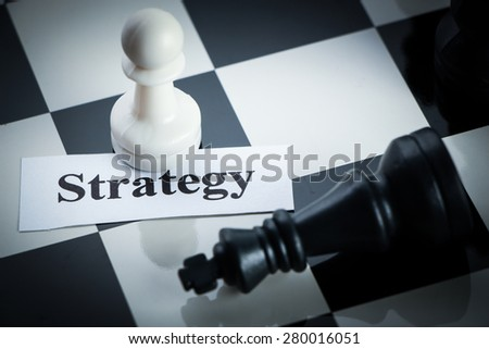 Chess strategy concept chess on the chess board. - stock photo