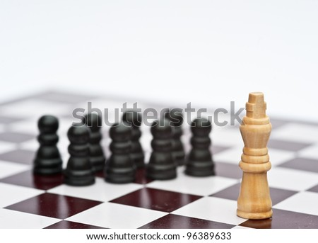 Chess strategy game business concept of leadership teamwork competition - stock photo