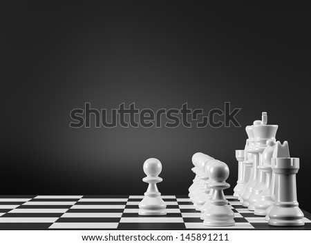 Chess Strategy. The first step.  - stock photo