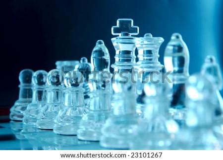 Chess team - stock photo