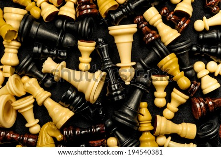 Chess Texture Pattern on a Black Background - stock photo