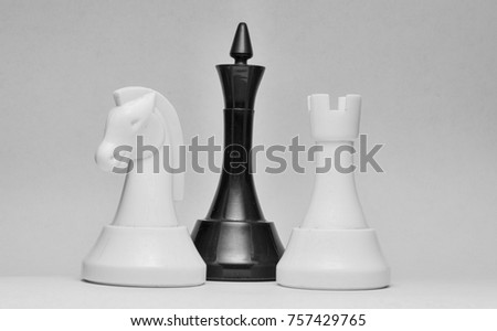 Chess, three figures, game