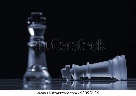 Chess to represents Business or Politic Strategy - stock photo