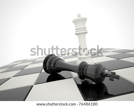 chess victory - stock photo