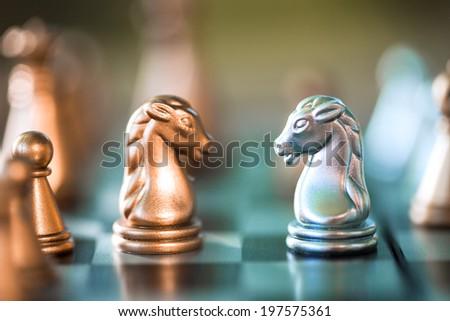 Chess. Win concept. - stock photo