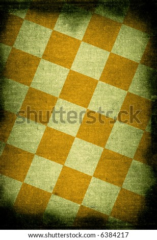 chessboard style vintage background with dark edges - stock photo