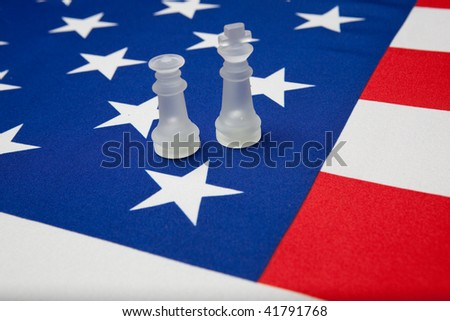 chessman on the ensign of the USA